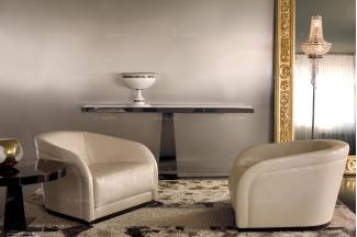 Longhi现代时尚米色休闲椅