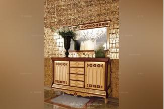 Minotti Luigi&Benigno欧式实木雕花金色装饰柜
