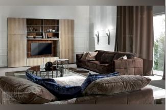 Longhi现代风深棕色客厅沙发系列