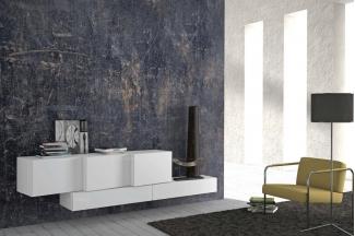 Presotto后现代时尚白色电视柜
