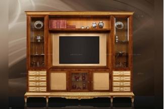 Minotti Luigi&Benigno欧式实木雕花樱桃色电视柜
