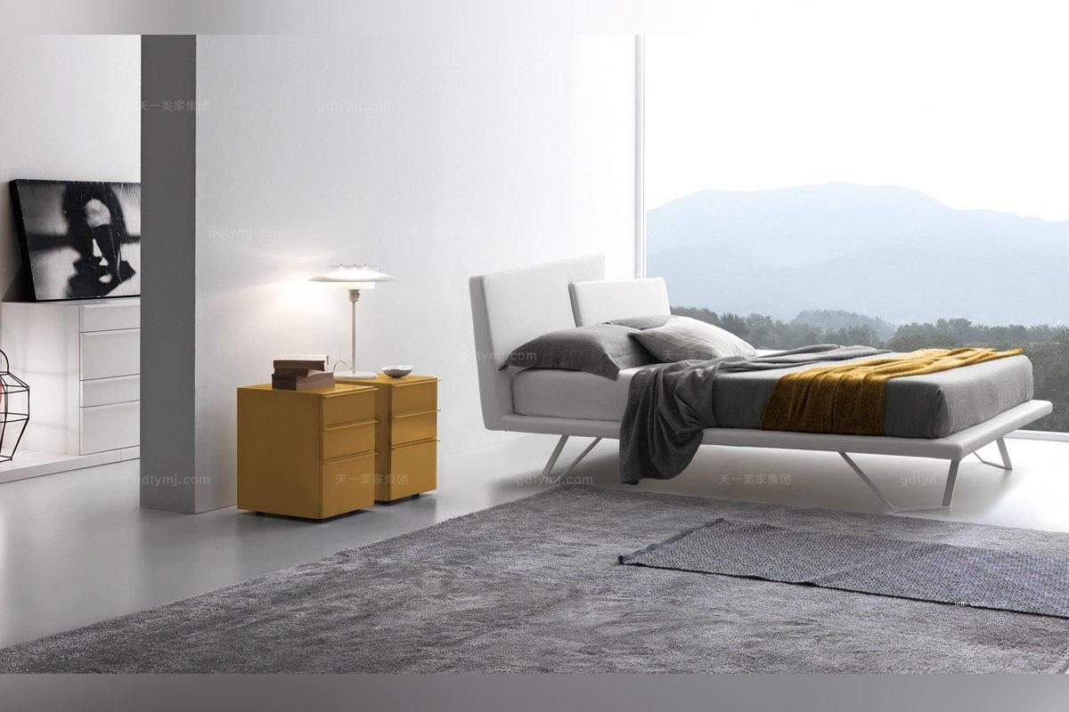 Presotto后现代时尚布艺床系列