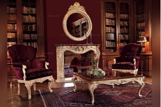 Minotti Luigi&Benigno欧式实木雕花做旧效果客厅系列