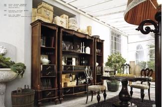 Volpi 意大利进口高端品牌法式深色圆餐桌+椅