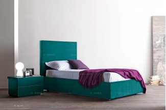 Presotto后现代深绿色高靠背床