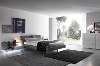 Presotto后现代卧室布艺床系列