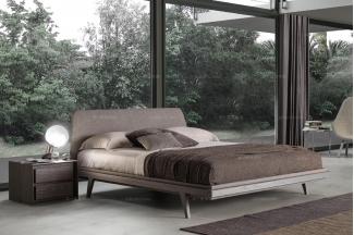 Presotto后现代时尚实木布艺床