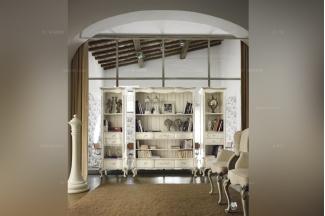 Volpi 意大利进口法式高端品牌雕刻装饰书柜