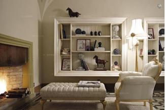 Volpi意大利进口高端时尚法式贴金泊单人沙发