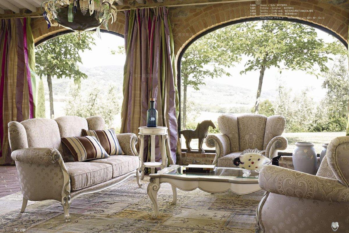 会所沙发ktv沙发Volpi意大利进口高端时尚法式别墅会所布艺沙发
