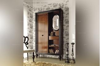 Volpi 意大利进口高端品牌法式深色双门书柜