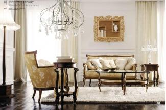 Volpi意大利进口高端品牌雕刻法式深色沙发椭圆几