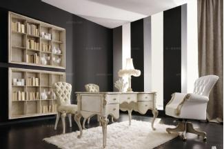 Volpi意大利进口高端时尚法式浅色书房组合