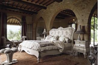 Volpi意大利进口高端时尚法式雕刻双人床