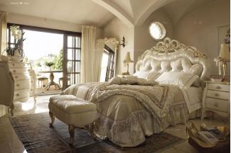 Volpi意大利进口高端品牌雕刻法式别墅会所双人床