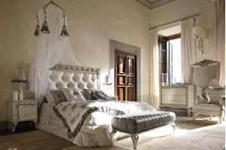 Volpi意大利进口法式高端品牌雕刻别墅会所双人床