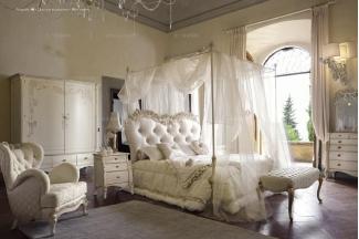 VOLPI意大利进口法式高端品牌雕刻双人床