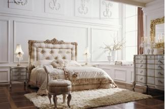 Volpi 意大利进口法式高端品牌雕刻别墅会所双人床