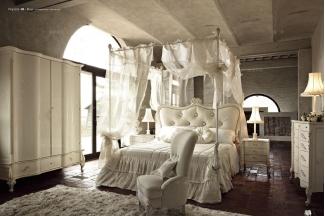 Volpi意大利进口高端时尚法式雕刻四柱床