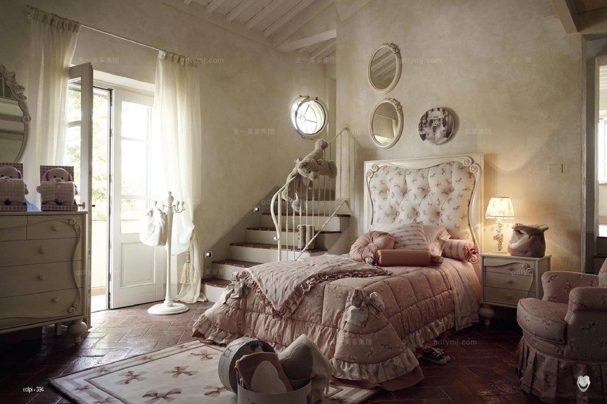 volpi 意大利进口法式高档时尚儿童双人床图片