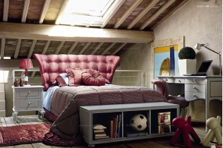 Volpi意大利进口法式高端品牌国外家具网站红色双人床