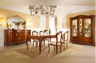 Valderamobili 意大利进口法式高端品牌深色长餐台+餐椅
