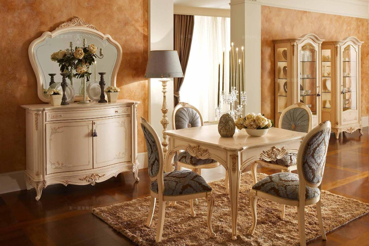 Valderamobili 意大利进口高端时尚法式麻将桌+椅