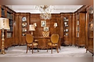 Valderamobili 意大利进口法式高端品牌雕刻书桌+书椅