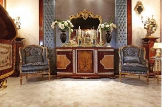 Minotti Luigi&Benigno欧式实木雕花金色客厅系列