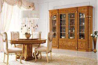 Valderamobili 意大利进口法式高端品牌雕刻圆餐桌椅