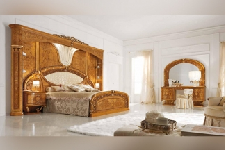 Valderamobili意大利进口法式高端品牌雕刻奢华双人床