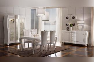 欧式万博手机网页10大品牌 Valderamobili 意大利进口时尚法式白色长餐台系列