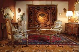 Minotti Luigi&Benigno欧式实木雕花木皮拼花客厅系列