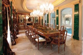 世界品牌家具图片Minotti Luigi&Benigno欧式木皮拼花长餐桌餐厅系列