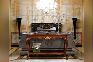 Minotti Luigi&Benigno欧式实木雕花木皮拼花沙发背几系列