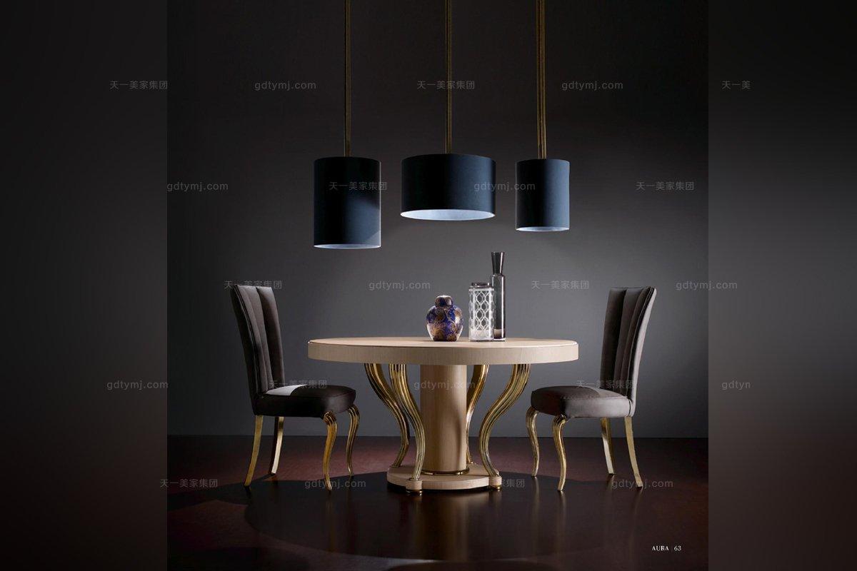 澳洲别墅家具 Valderamobili 意大利进口时尚法式圆餐台