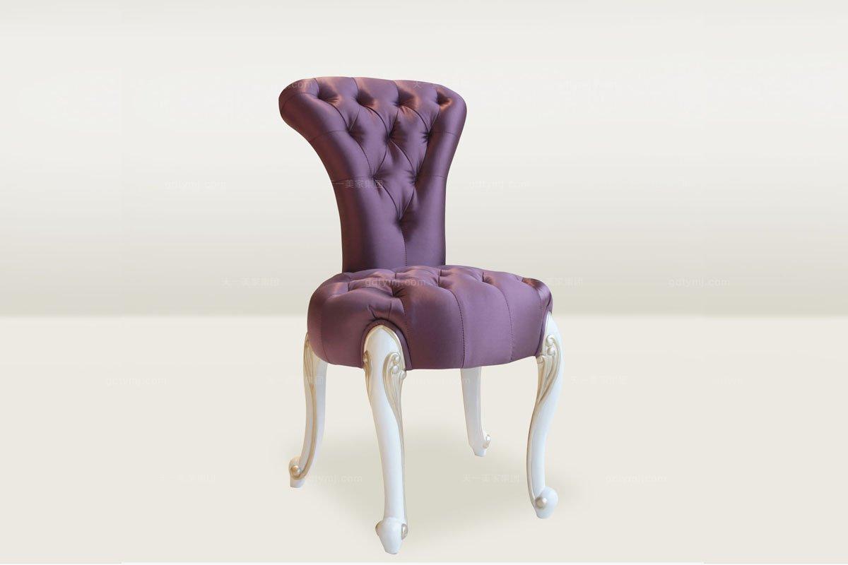 高端时尚简欧紫色拉扣妆凳