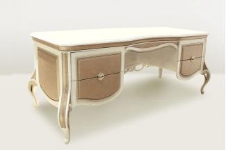 高端时尚简欧别墅会所高端大气白色书桌