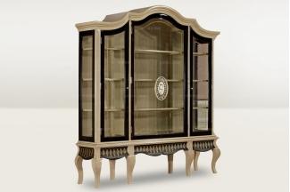 高端时尚简欧玻璃四门酒柜