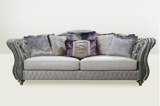 高端品牌简欧进口布艺三人沙发