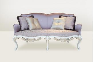 高端时尚简欧雕刻休闲二位沙发