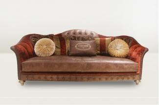 高端品牌简欧咖啡色三位沙发