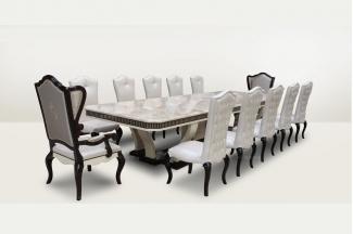高端品牌简欧超长大理石面长餐台