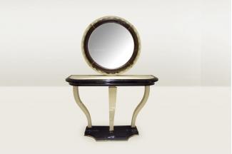 高端时尚简欧珍珠色玄关台+镜