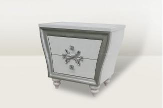 高端时尚简欧大气白色床头柜