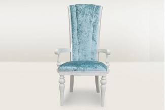 高端时尚简欧大气蓝色绒布扶手椅