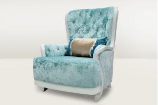 高端时尚简欧蓝色休闲沙发