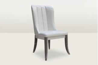 高端时尚简欧白色真皮休闲椅