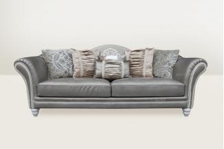 高端品牌简欧浅灰 色三人沙发