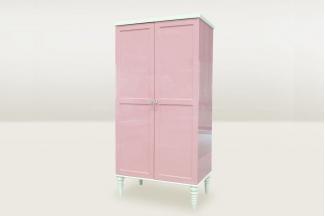高端时尚简欧粉色二门衣柜